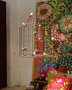 Hanglamp vogelkooi   pendant light with birds kidsroom by www.DutchDilight.com